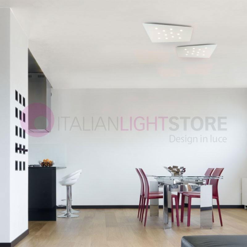 FUORISQUADRA Plafoniera Pannello 12 LED Design Moderno