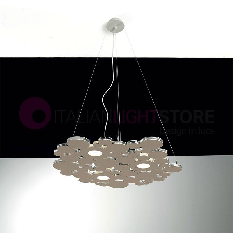 BOLLE Sospensione Lampada a Led L.40 Design Moderno