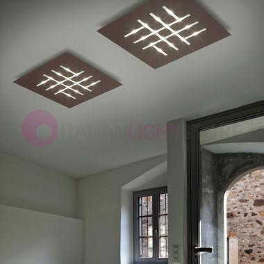 PATTERN Plafoniera da Soffitto a Led L.80 Design Moderno Braga