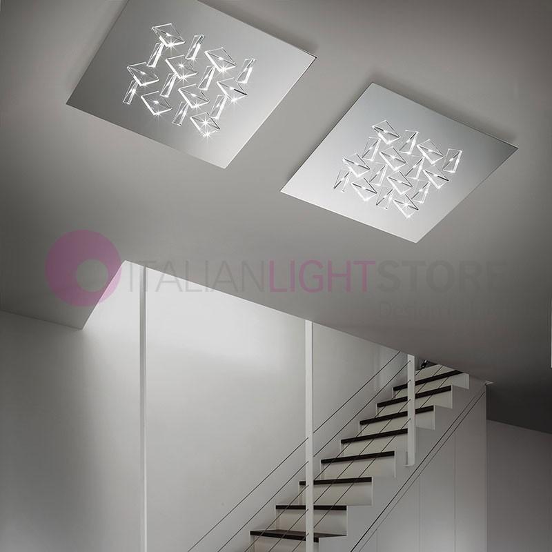 CRISTALLI Plafoniera da Soffitto a Led con Cristalli L.50 Design Moderno