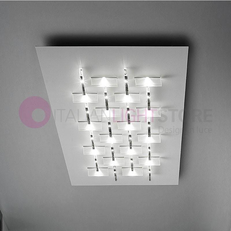 CRISTALLI Plafoniera da Soffitto a Led con Cristalli L.80 Design Moderno