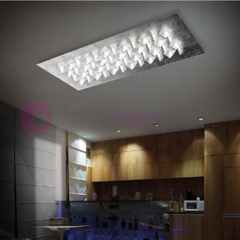 CRISTALLI Plafoniera da Soffitto a Led con Cristalli L.110 Design Moderno