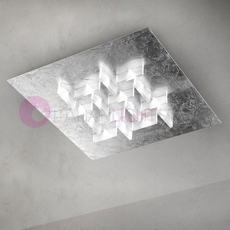 CRISTALLI Plafoniera ad Incasso a Led con Cristalli L.60 Design Moderno