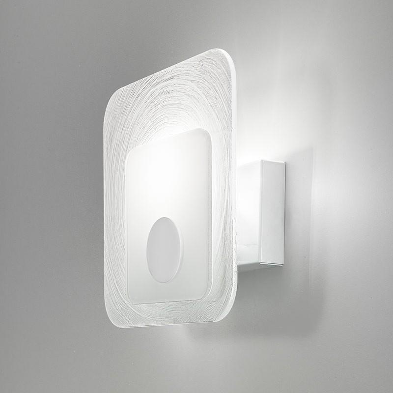 lampada applique led da parete moderna in vetro  Fuoriskema Antea Luce