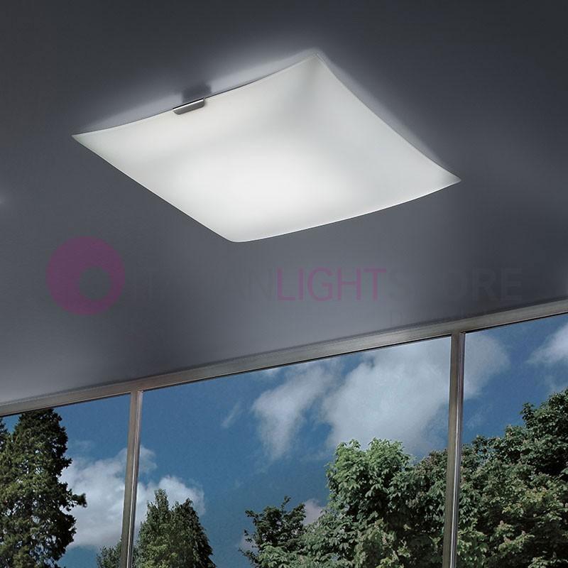 GLASS LED Plafoniera a Soffitto a Led L.60 Design Moderno