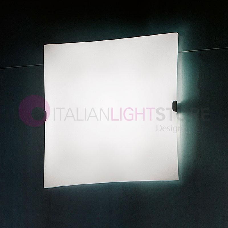 GLASS LED Plafoniera a Parete o Soffitto a Led L.30 Design Moderno