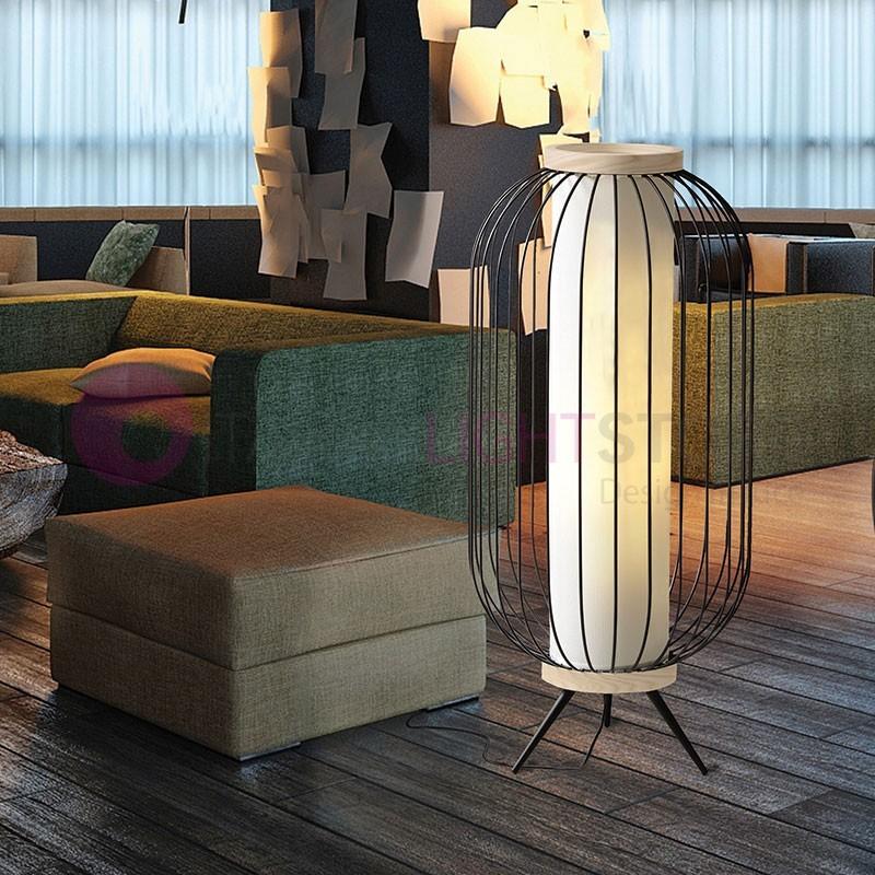 CHAPLIN Lampada da Terra con Paralume Design Moderno