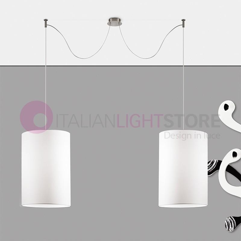 EASY Lampada a Sospensione a 2 Luci Design Moderno con Paralumi