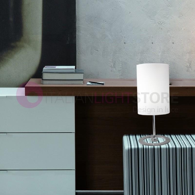 EASY Lumetto Design Moderno con Paralume in Tessuto