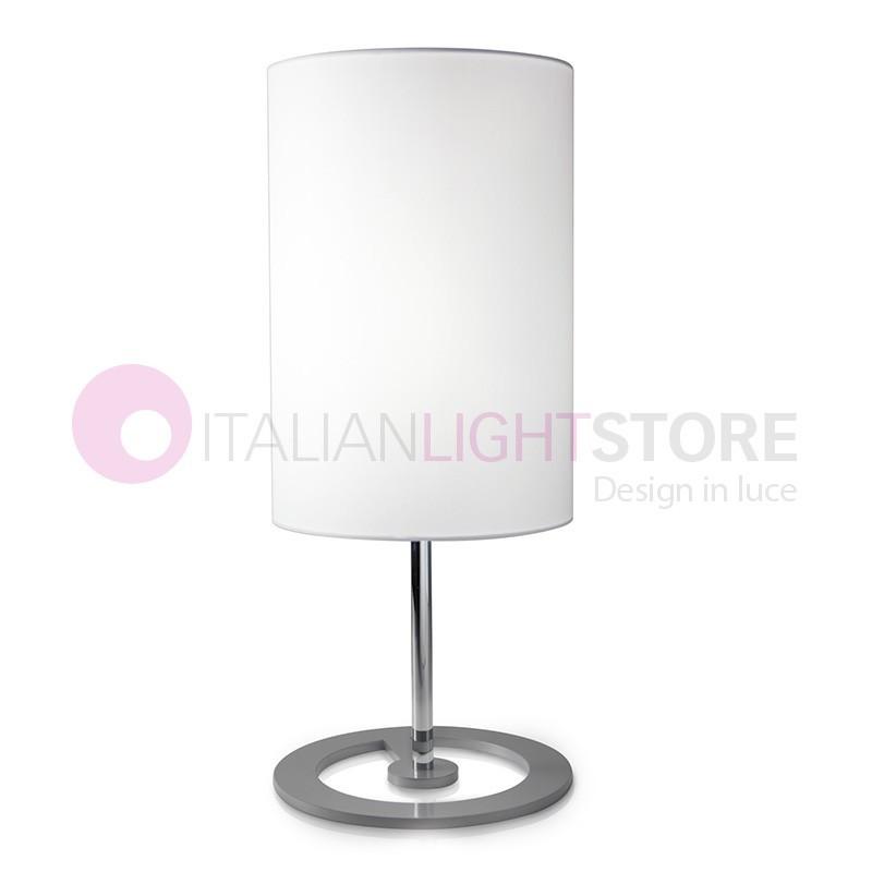 EASY Lampada da Tavolo Design Moderno con Paralume Tessuto