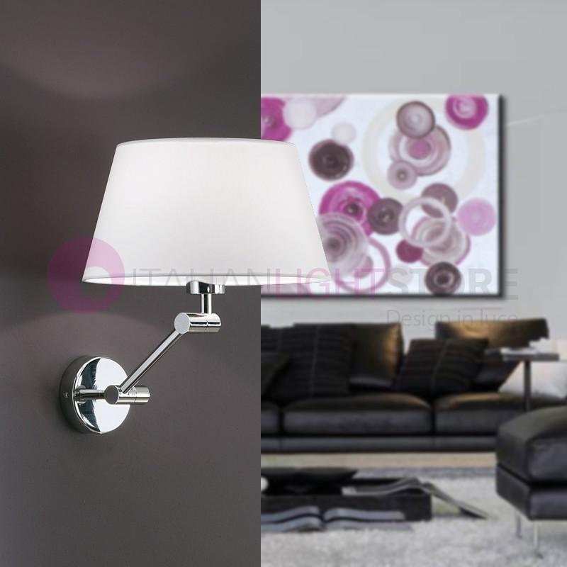 PLAY Lampada a Parete con Paralume in Tessuto Design Moderno