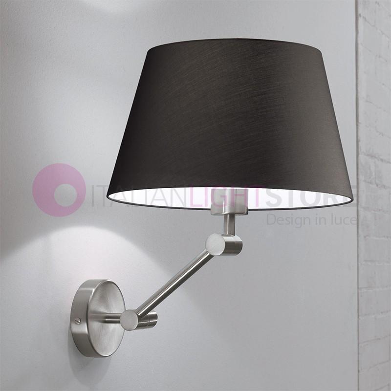 Play lampada a parete con paralume in tessuto design moderno - Lampada parete design ...