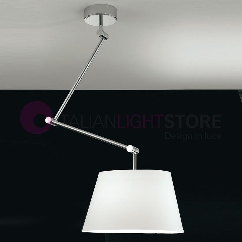 Luce Sospensione Design.Play Lampada A Sospensione Braccio Snodabile Con Paralume In Tessuto Design Moderno