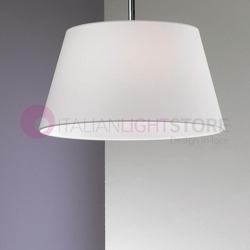 Play sospensione grande 2 luci con paralume in tessuto - Luci sospensione design ...