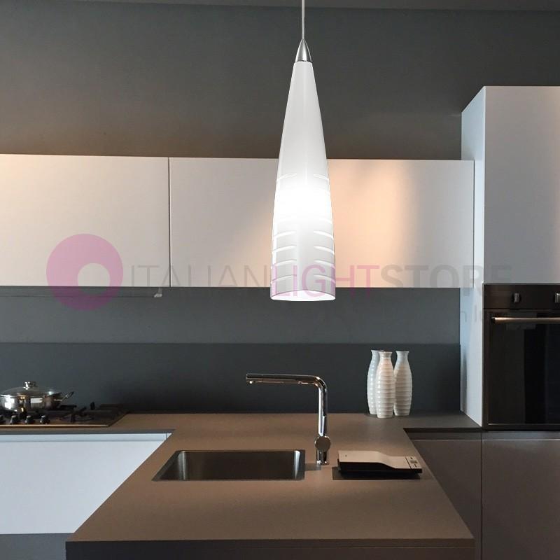 IRIS Lampada a Sospensione in Vetro di Murano Design Moderno