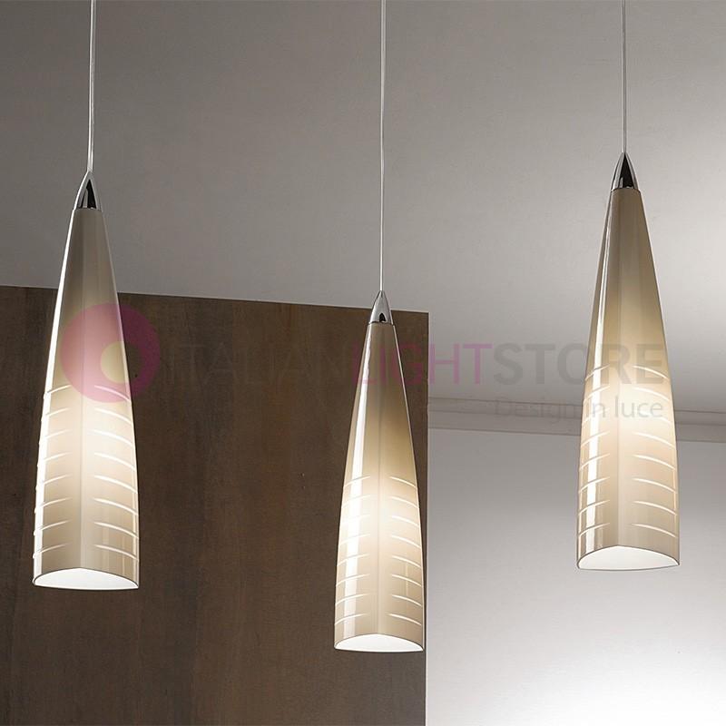 Moderne Suspension Iris De MuranoDesign Réglable Lumières En Lampe 3 Verre fyvb6I7gYm