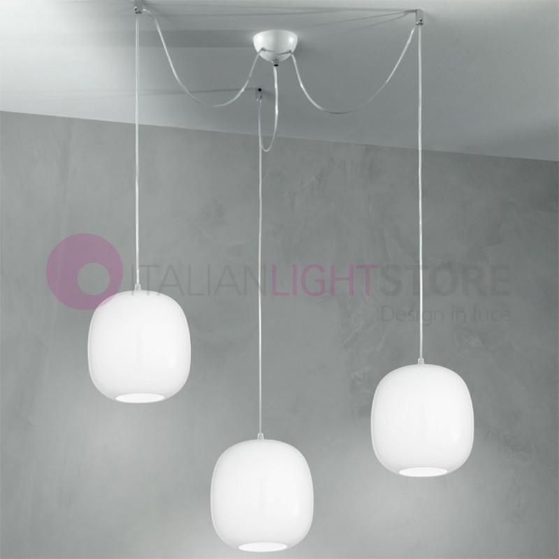 Brio pendentif en verre de la lampe vintage perenz for Suspension 3 lumieres