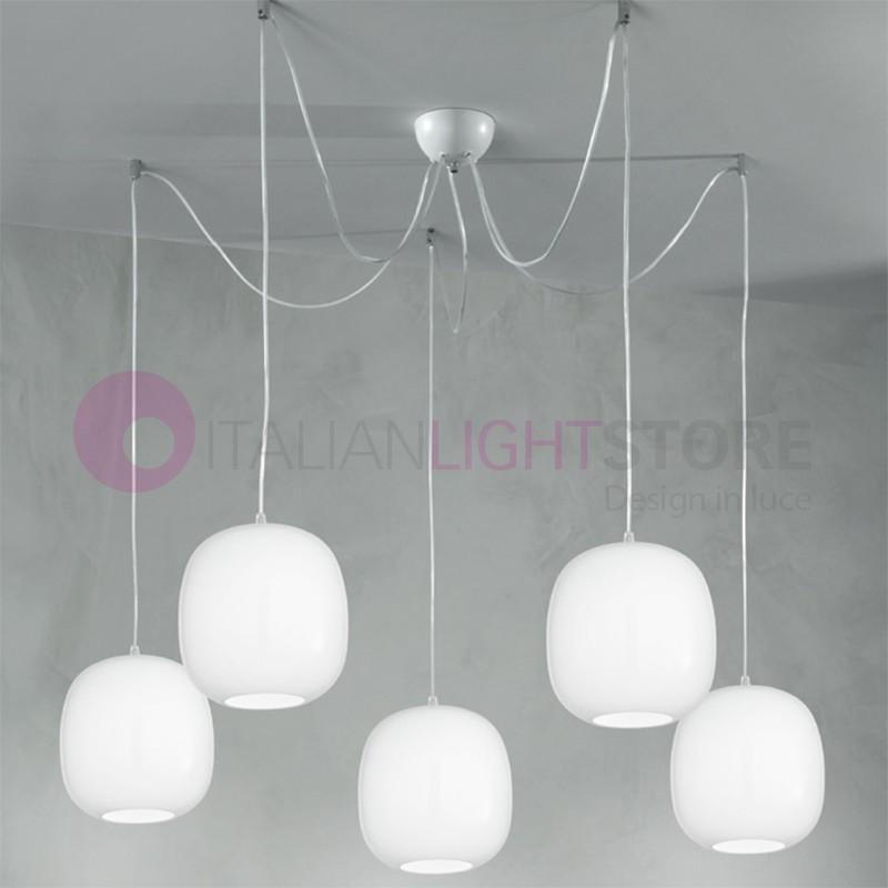 Lampe Verre Design Vivre Moderne Au Suspension À 5 En Lumières UzMpSV