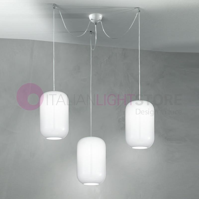 DREAM Lampada a Sospensione a 3 Luci in Vetro Soffiato Design Moderno