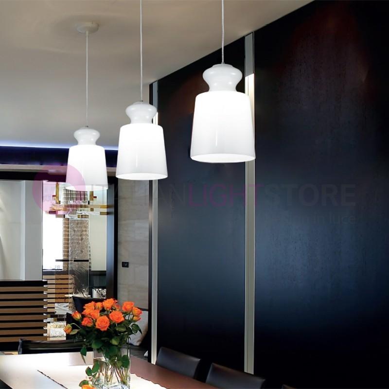 ETERNITY Lampada Sospensione Luce Singola Vetro Design Moderno | DUE P