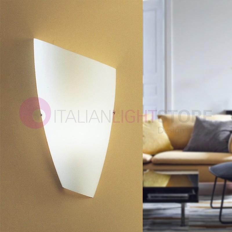 PASS Mini Applique Lampada a Parete Moderna in Vetro Soffiato