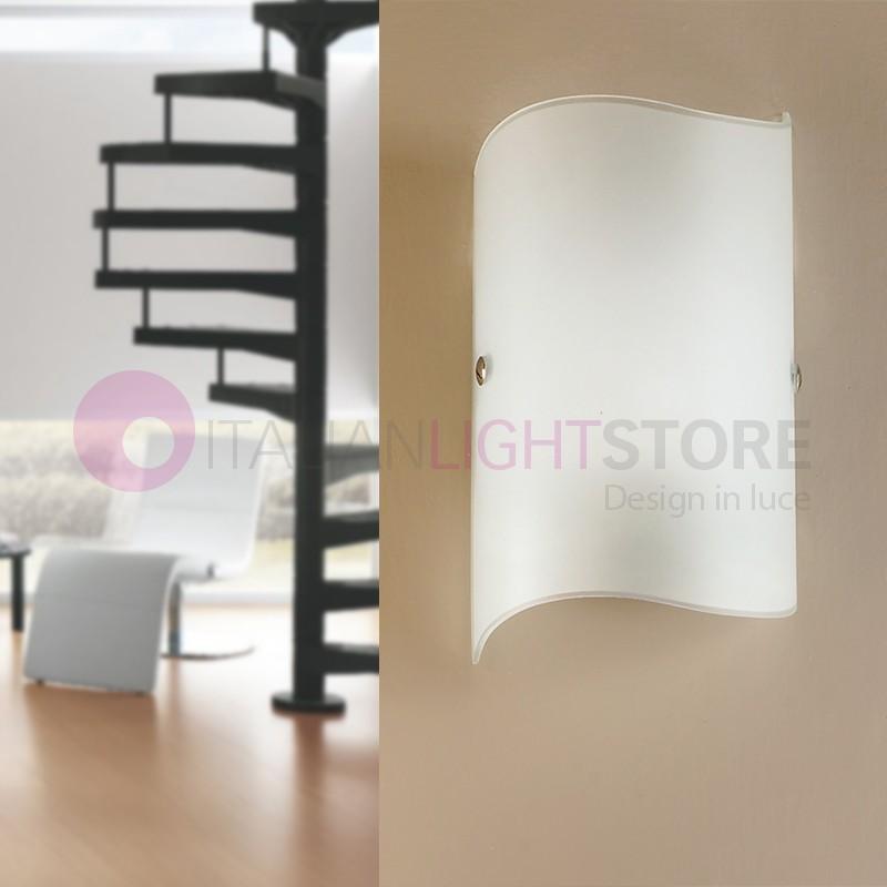 PASS Mini Applique Lampada a Parete Moderna in Vetro Curvato