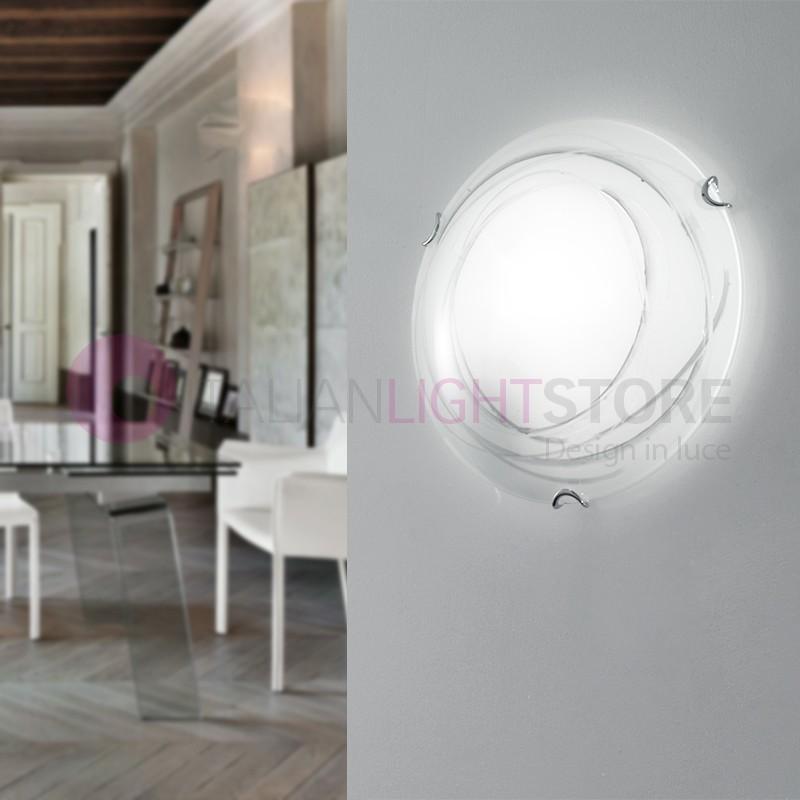 EXIT Plafoniera a Soffitto e Parete Vetro Ø 30 Design Moderno