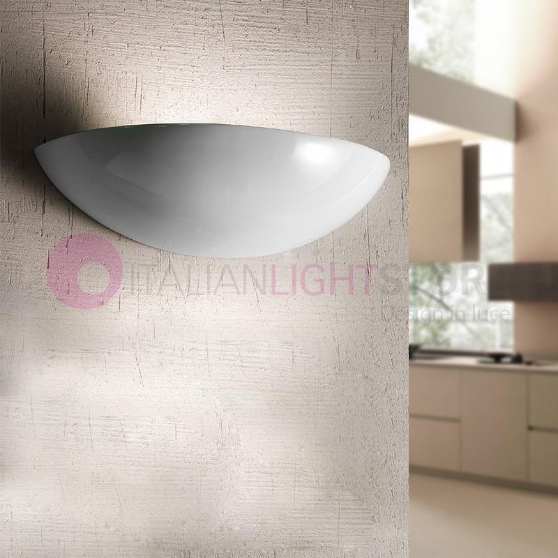 BORGO DI LUCE Wall Lamp Tray White Ceramic D. 39