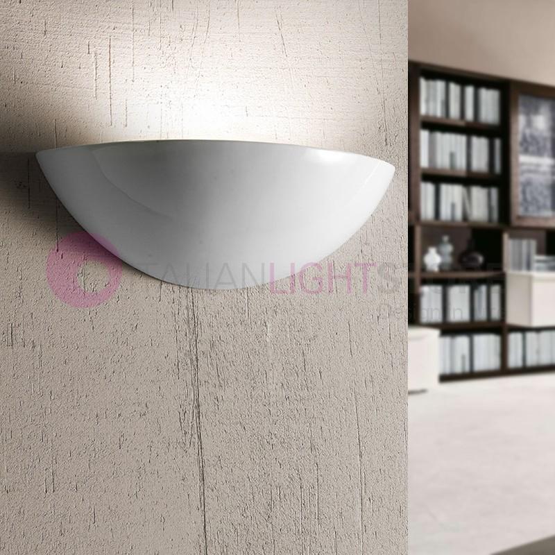 BORGO DI LUCE Wall Lamp Tray White Ceramic D. 30
