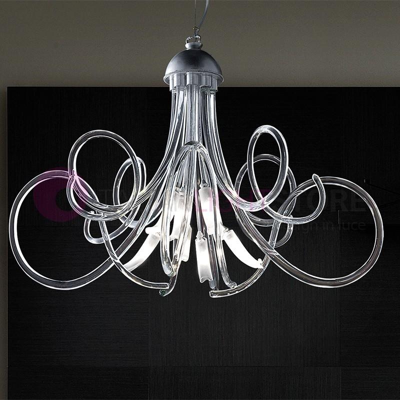 CHIC Moderno Lampadario 8 luci Vetro di Murano Design | Bellart