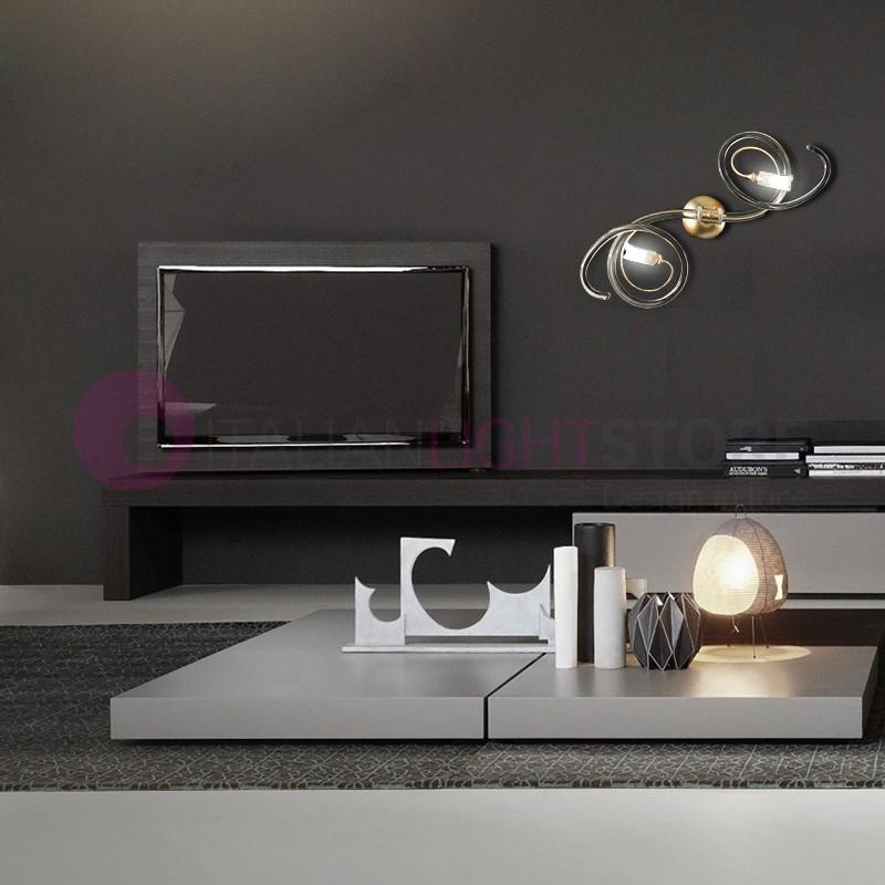 CHIC Lampada a Parete 2 Luci in Vetro di Murano Design Moderno