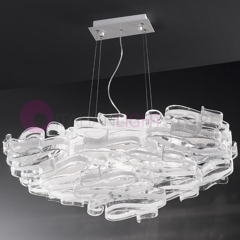 Lampadari In Cristallo Di Murano.Gloria Lampadario 7 Luci In Vetro Di Murano Design Moderno