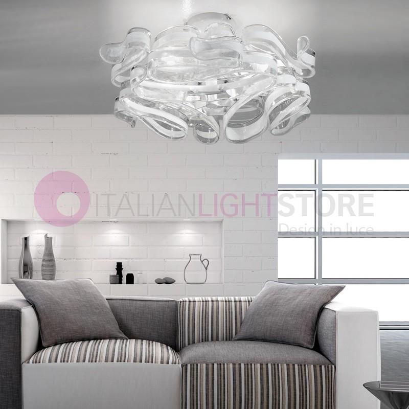GLORIA Plafoniera 3 Luci in Vetro di Murano Design Moderno