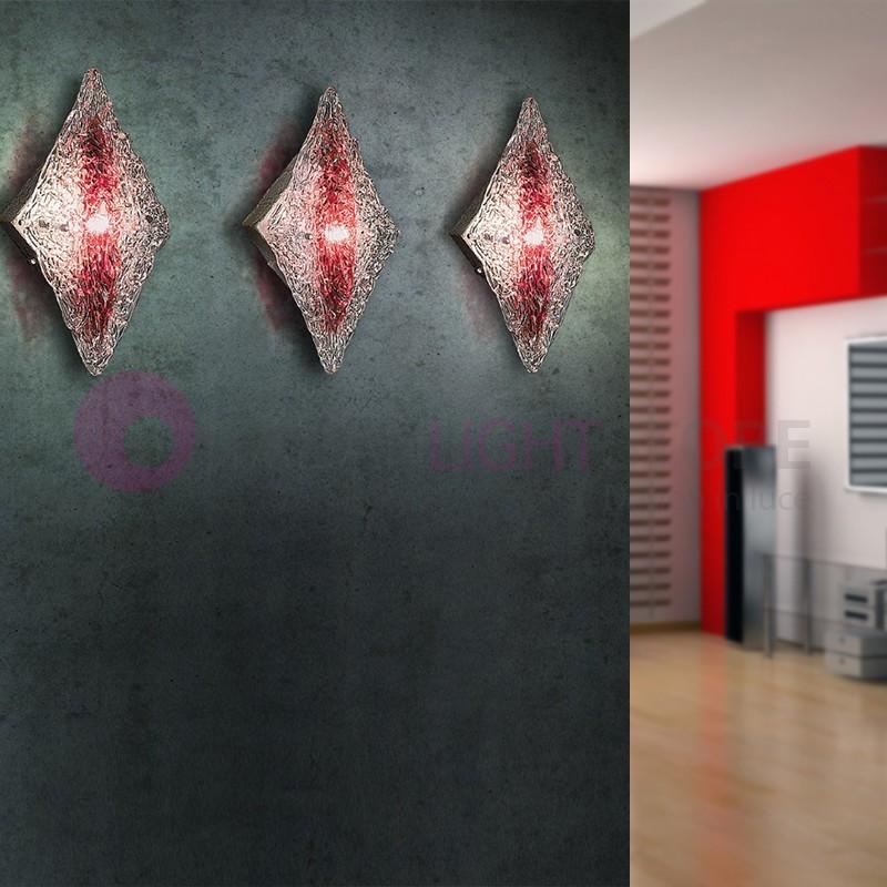 ALASKA Lampada a Parete in Vetro Artistico Design Moderno