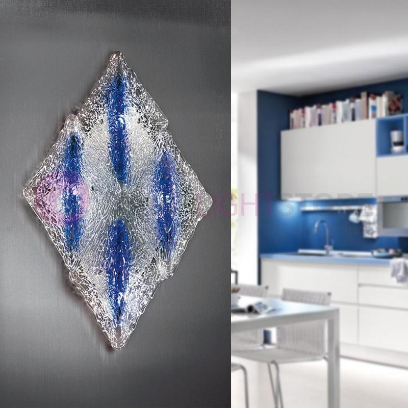 ALASKA Lampada a Parete 4 Luci in Vetro Artistico Design Moderno
