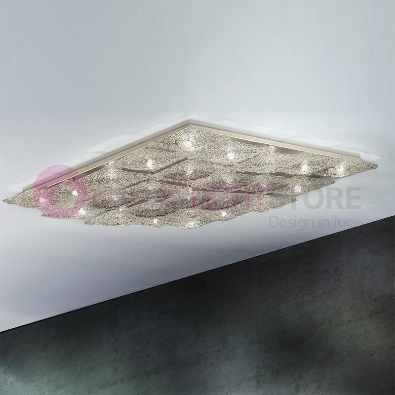ALASKA Plafoniera a 25 Luci in Vetro Artistico Design Moderno