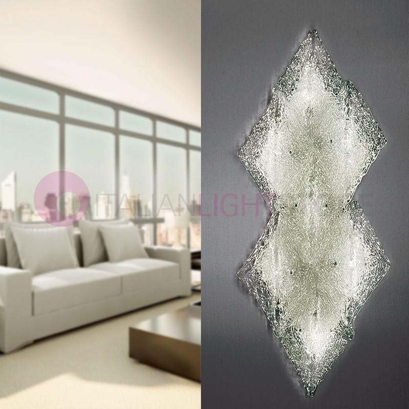 ALASKA Plafoniera a 7 Luci in Vetro Artistico Design Moderno