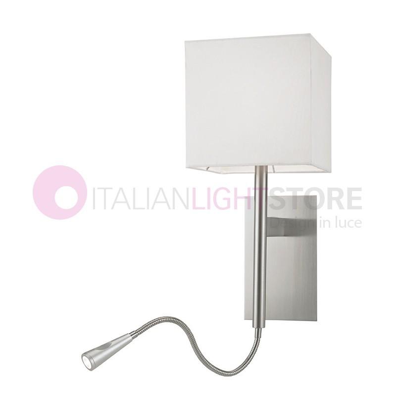 VERONA Lampada a Parete con Paralume Quadrato e Led Flessibile Design Moderno