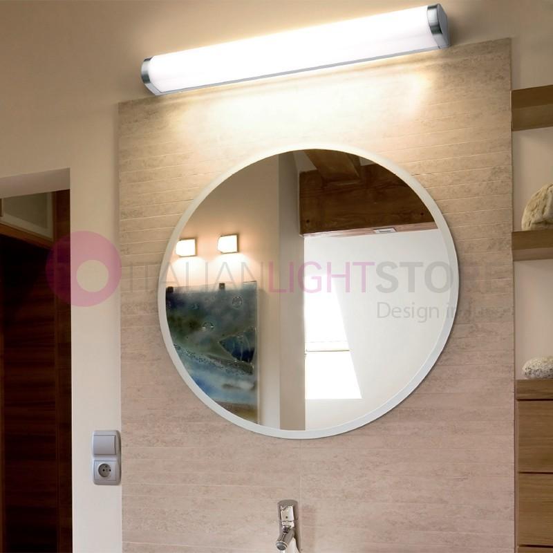 BLUR Lampada a Parete da Bagno Alluminio Cromato IP44