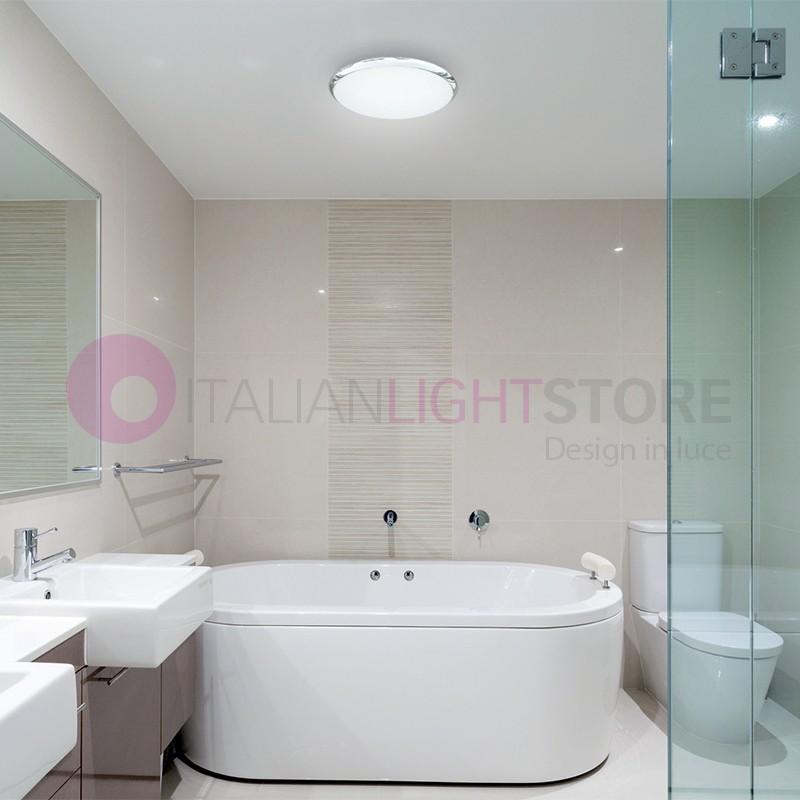 Carpi plafoniera da bagno led ip44 acciaio cromato grupo - Lampada soffitto bagno ...
