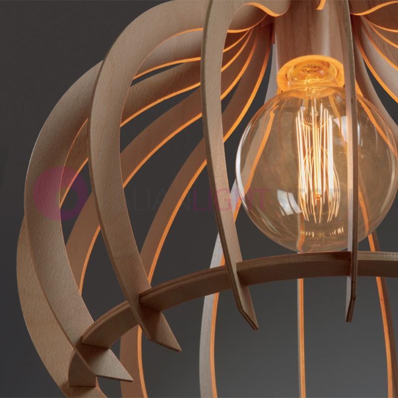 CUSKA pendant Lamp in Wood with Modern Design