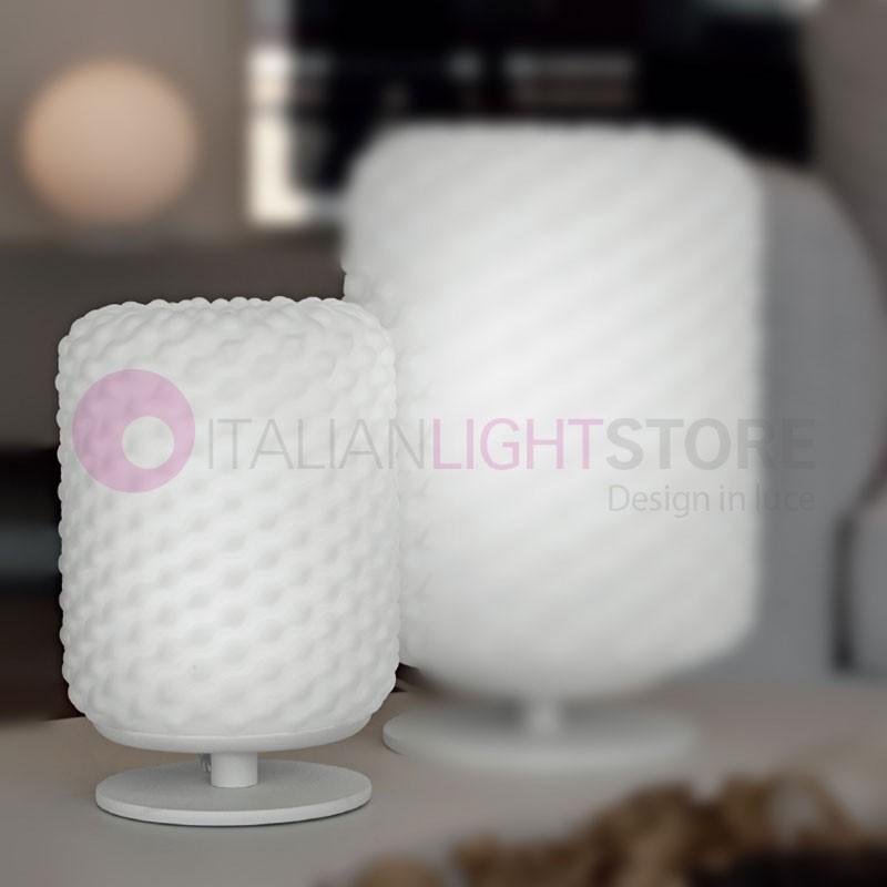 DOMINO Lampada da Tavolo in Vetro Soffiato D.15 Design Moderno