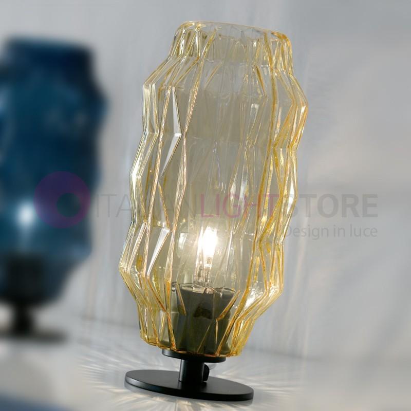 ORIGAMI Lampada da Tavolo in Vetro Soffiato Design Moderno