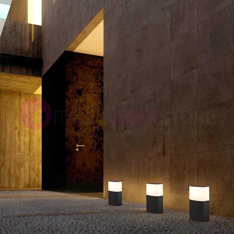 Datna paletto lampioncino da giardino design moderno ip44 faro - Giardino moderno design ...