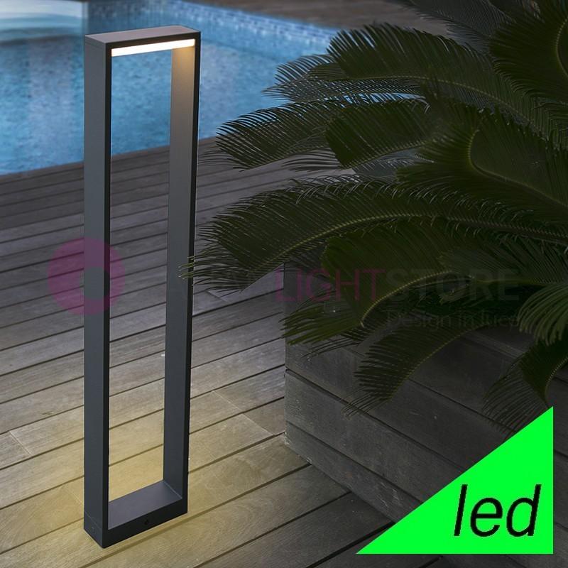 ALP Paletto Lampioncino a LED da Giardino H.80 Design Moderno IP54