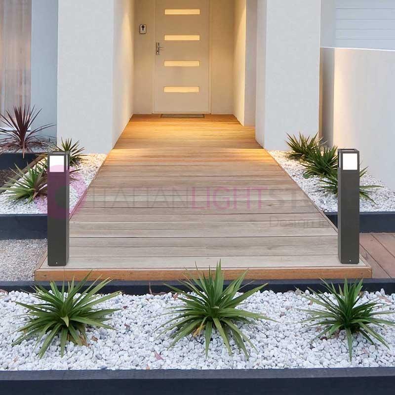 Midos paletto lampioncino moderno in alluminio for Giardini moderni design