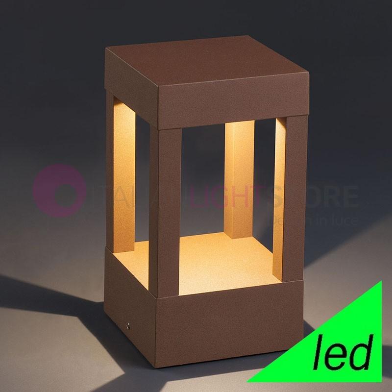 AGRA Paletto Lampioncino per muretto a LED da Giardino H.20 Design Moderno IP54