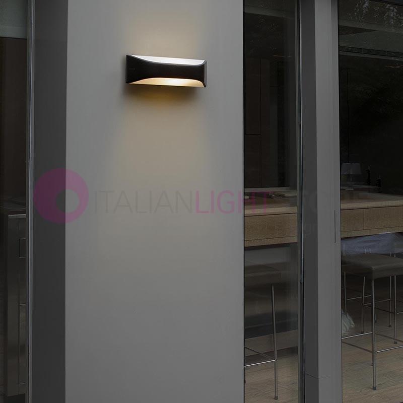 View lampada a parete da esterno design moderno ip54 faro - Lampada da parete design ...