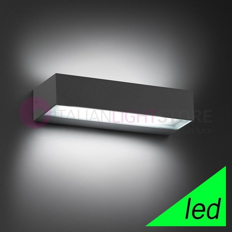 Faretto tecnico lampada esterno design moderno alluminio - Lampade da esterno da parete ...