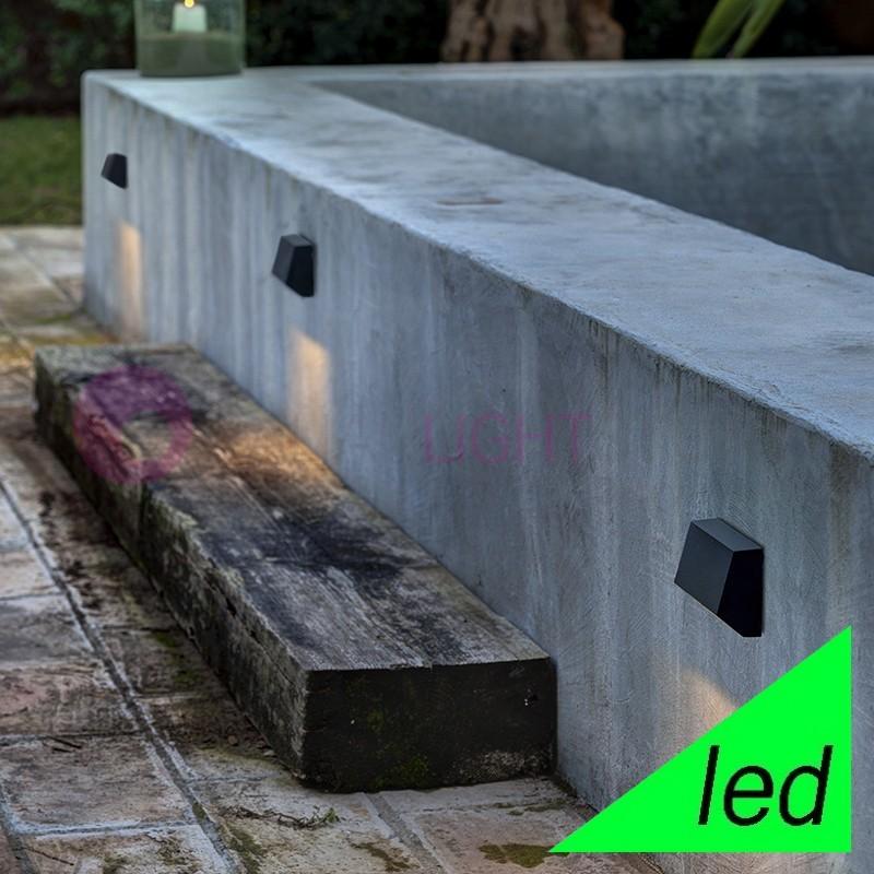 MUST Lampada a Parete LED da Esterno L.9,6 Design Moderno IP65